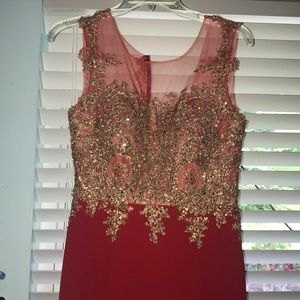 Form Fitting Red Dress